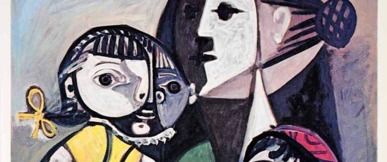 """Mãe com crianças e laranjas"""", Picasso, 1951"""